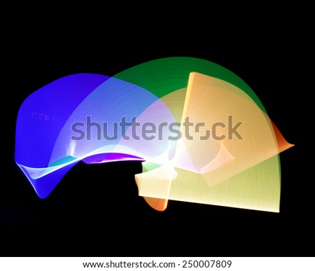 Colorful Abstract Light, Great for Use as a Background. - stock photo