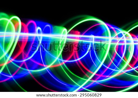 Colorful abstract light line movement  - stock photo
