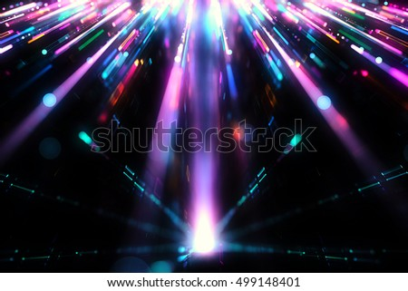 Colorful abstract lights background - 3D illustration