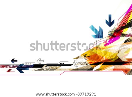 colorful abstract modern background illustration