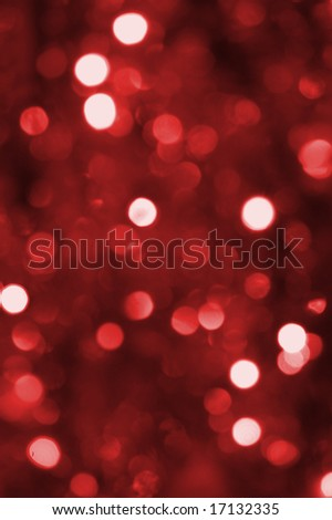 colorful abstract red holiday lights background - stock photo