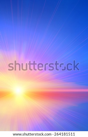 Colorful abstract sunset. Abstract composition - stock photo