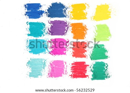 colorful abstract texture made with pastel stick