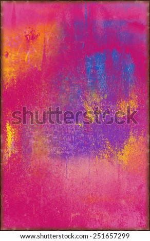 Colorful Abstract Texture with Rusty Seams Along Edges (Part of Vibrant Metal Textures set, which includes 12 textures that fit together perfectly to form a huge image. No noise, even lighting) - stock photo