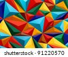 Colorful abstract texture with triangles - stock photo
