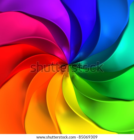 Colorful abstract twisted background - stock photo