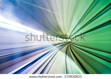 colorful abstract warp with motion blur - stock photo