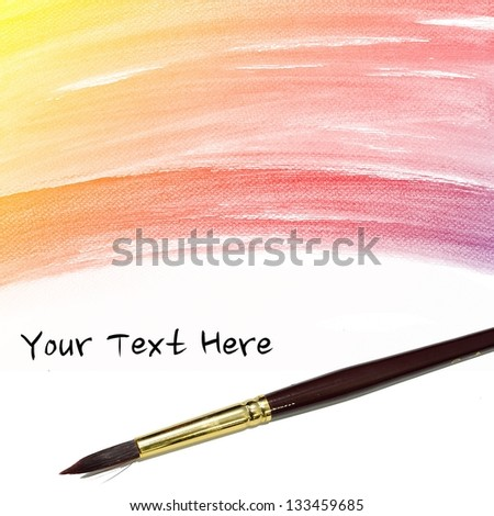 colorful Abstract water color art hand paint background with artist brush
