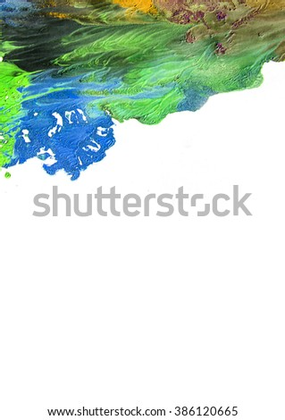 colorful abstract watercolor - stock photo