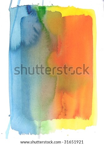 Colorful abstract watercolor background - stock photo