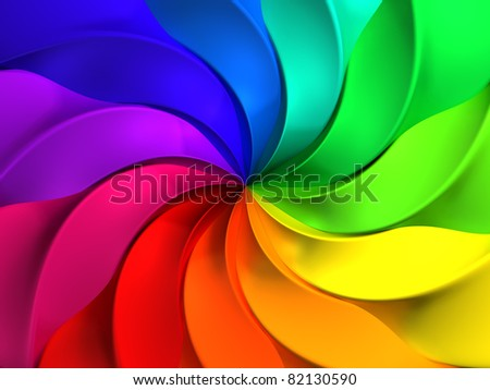 Colorful abstract windmill pattern background 3d illustration