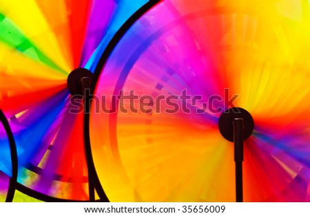 Colorful Abstract with Wind Propeller Discs