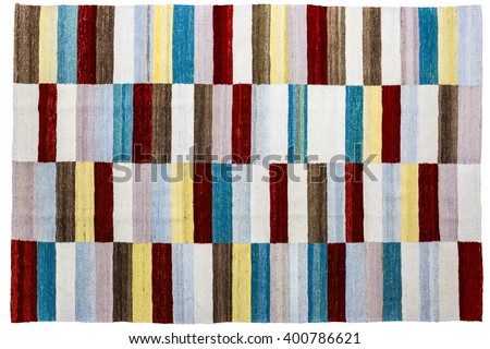 Colorful african peruvian style rug surface close up - stock photo