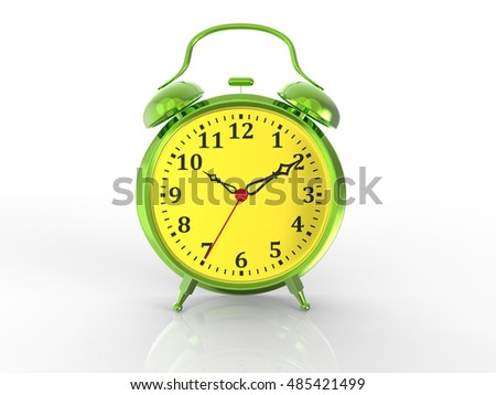 Colorful Alarm Clock 3d Render
