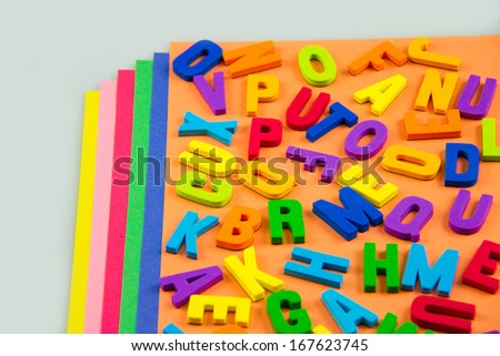 Colorful alphabet letters - stock photo