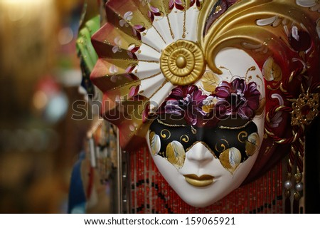 Colorful and Beautiful Venice Mask, Venice, Italy - stock photo