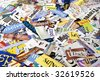 Colorful and Fun Magazine Word Clipping Paper Background - stock photo