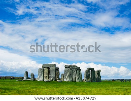 Colorful and sunny Stonehenge