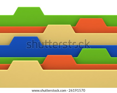 Colorful archive bookmarks of card index with copyspace - stock photo