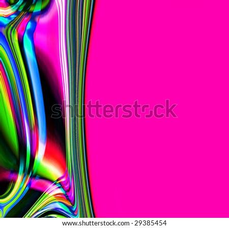 Colorful Art Border - stock photo