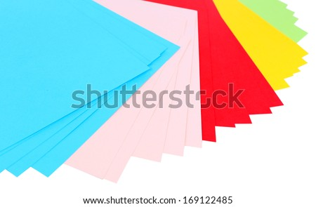 Colorful art paper close up