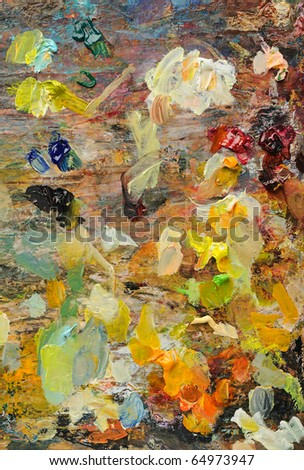 Colorful Artist's Palette - stock photo
