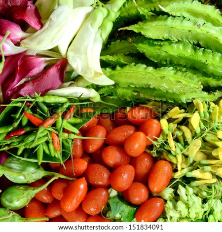 Colorful Asian Vegetables. - stock photo