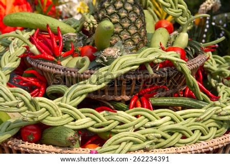 Colorful Asian Vegetables - stock photo