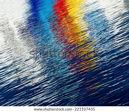 Colorful background, abstract background, colorful background, colorful pattern, rainbow, water background, reflections on water - stock photo