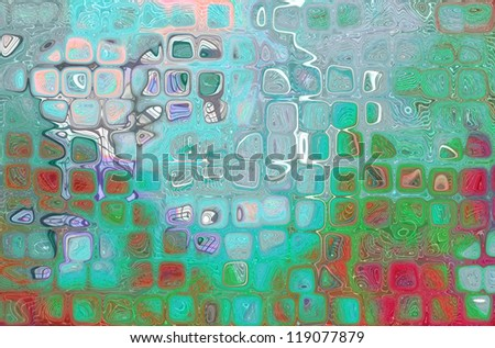 colorful background illustration of colored dots and blur - stock photo