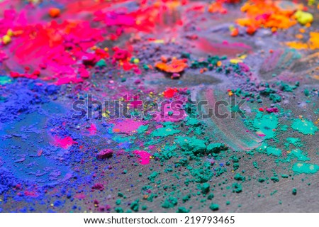 Colorful background made of Indian dyes - stock photo