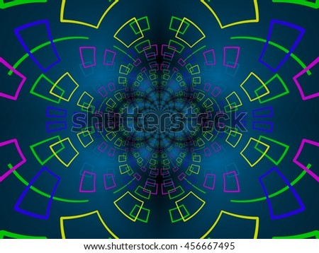 Colorful  background made of interweaving curved shapes