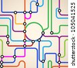 Colorful background of a subway map.Raster version - stock photo