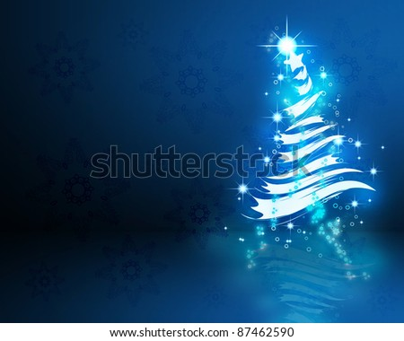 Colorful background on christmas and new year theme - stock photo