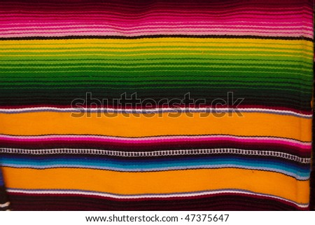 Colorful background picture of a Mexican blanket - stock photo