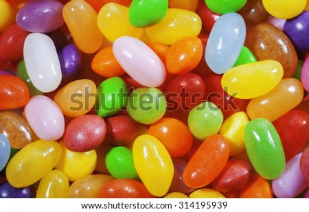 Colorful background - sweet jelly beans. - stock photo