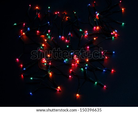 Colorful background with Christmas lights - stock photo