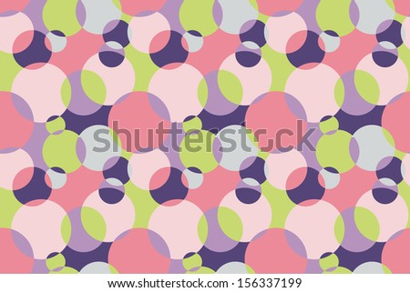 Colorful Background with Circles - stock photo