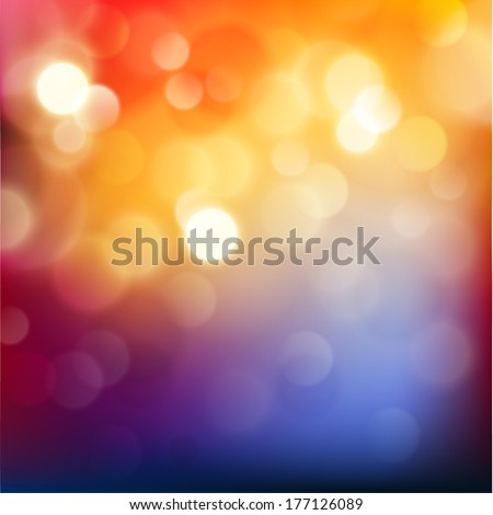 Colorful background with defocused lights - raster version - stock photo