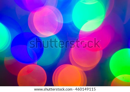 Colorful background with defocused lights - raster version