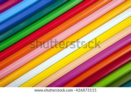 colorful background with multicolor pencil texture - stock photo