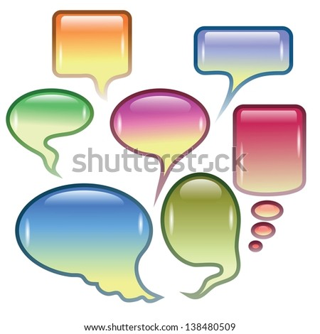 colorful background  with  speech bubbles  for your design - stock photo