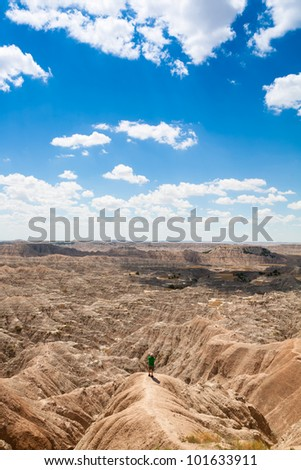 Colorful Badlands National Park - stock photo
