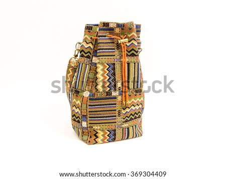 Colorful bag with a rope
