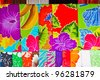 Colorful balinese cloth for sale - stock photo