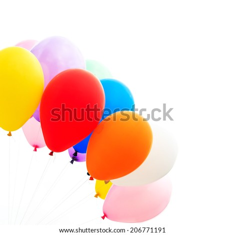 Colorful balloon - stock photo