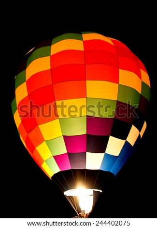 Colorful balloon glow - stock photo