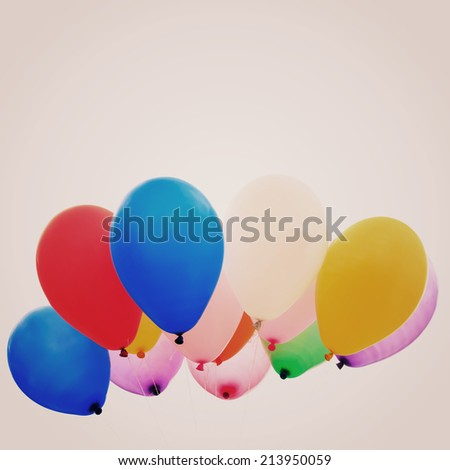 Colorful balloon - instagram filter - stock photo