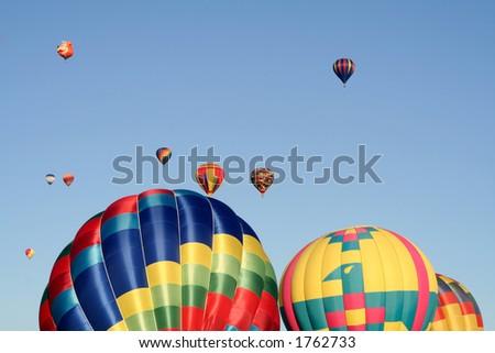 Colorful balloon show - stock photo