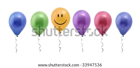 colorful balloons - stock photo